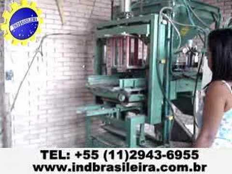 Máquina de fabricar blocos SP2G Pneumática  alta produção