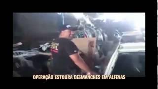 Pol�cia estoura desmanche de carros roubados em Alfenas