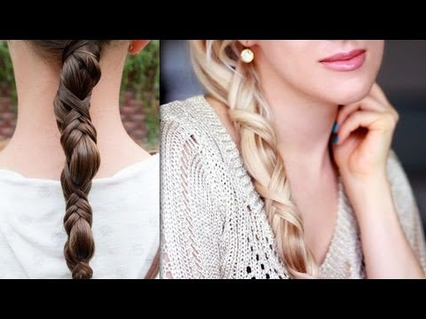 Easy summer braid for everyday Criss cross ponytail hairstyle for straight long hair tutorial 2013