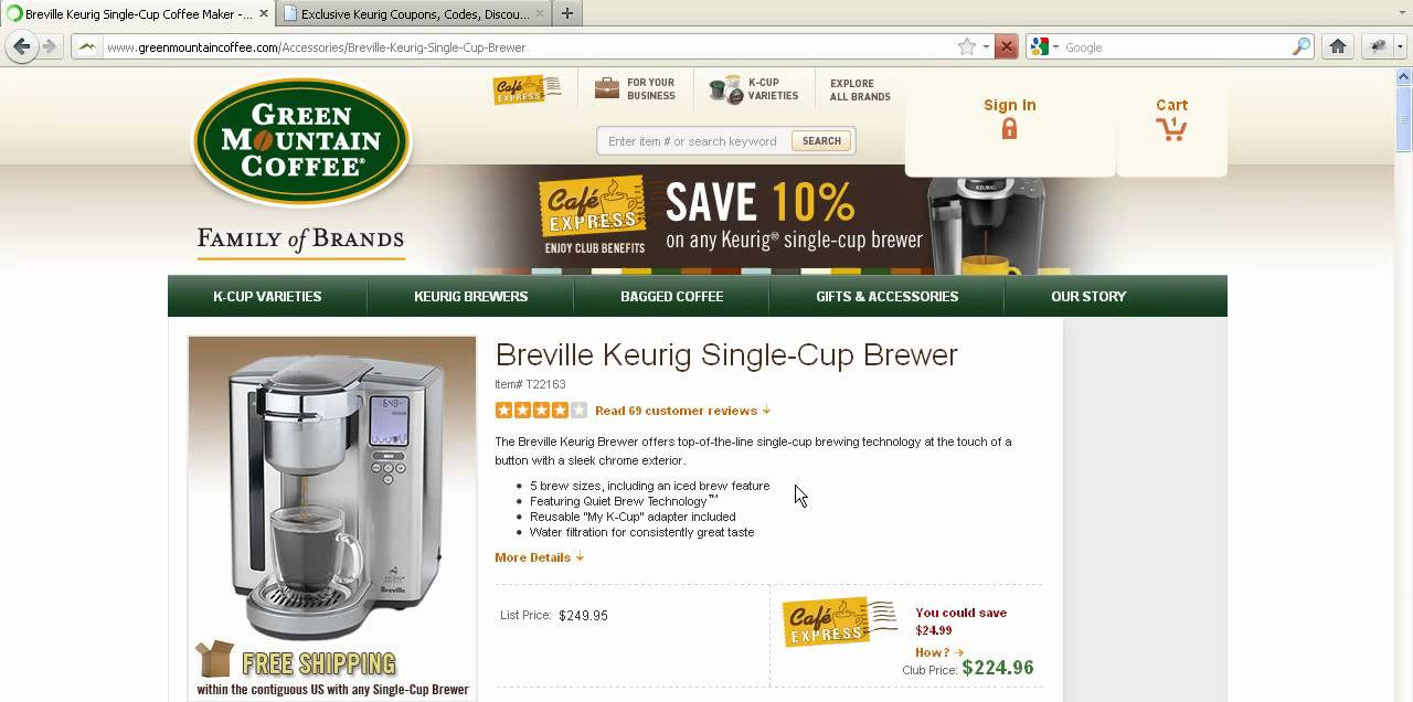 Keurig coupon code