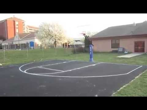 Backyard Basketball Court W Painted Lines Youtube
