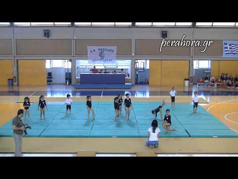Επίδειξη αθλητών ενόργανης γυμναστικής από τον ''ΠΟΣΕΙΔΩΝΑ'' Λουτρακίου 2013