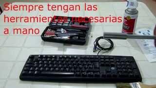 Como desarmar un teclado
