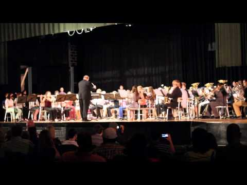 Rapides Parish Honor Band 2014 performing In the Shining of the Stars 2-1-14