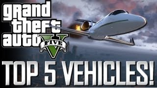 GTA 5 Top 5 Vehicles!! (Airplanes, Helicopters And Tanks
