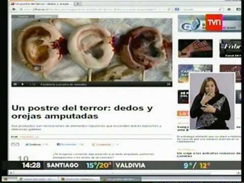 POSTRES-DE-TERROR-DEDOS-Y-OREJAS-AMPUTADAS-24HORAS-TVN-(11-04-2013)
