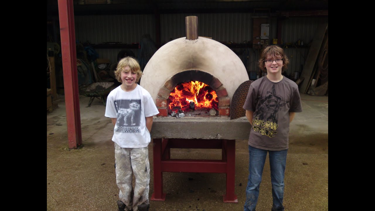 Clay Brick Pizza Ovens : How to build make a homemade wood fired clay brick pizza