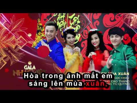 Karaoke Mash up - Bên Em Mùa Xuân - Đông Nhi, Ông Cao Thắng, Ngô Kiến Huy, Khổng Tú Quỳnh