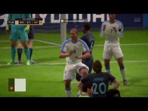 FIFA 18 FUT CHAMPIONS PRO GAMEPLAY!!! MY LAST ONE TILL FIFA 19!!!!!!
