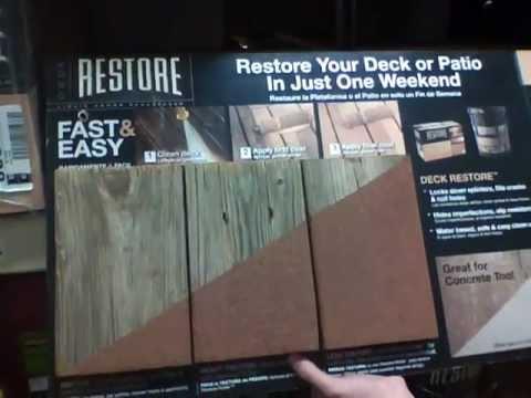 Restore Liquid Armor Deck Resurfacer - Home Depot - YouTube