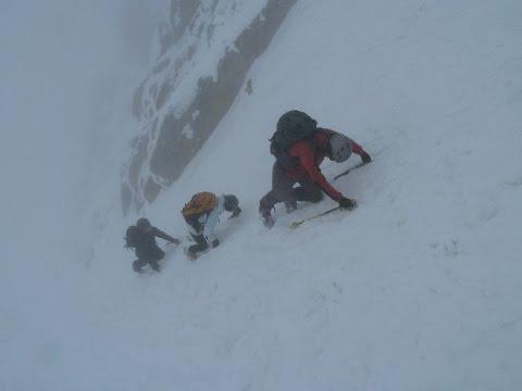 Ascensión y descenso con esquís del Pico de la Maladeta
