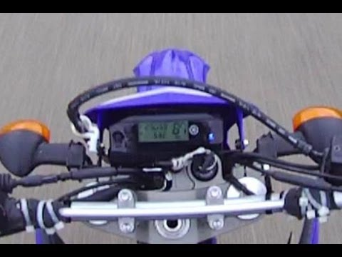 Top Speed Run 87 MPH - 2012 Yamaha Dual Sport WR250R