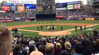 Jeter's Last Home Opener Yankees April 7, 2014 First Pitch
