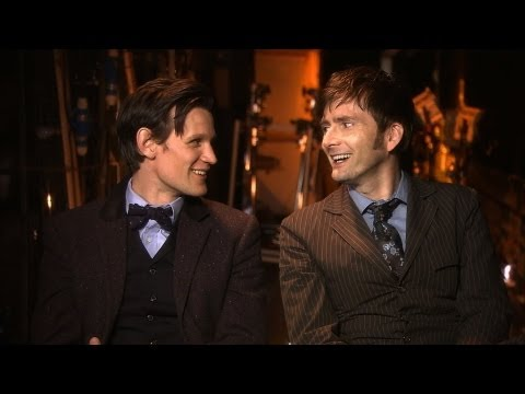 Matt Smith and David Tennant Behind the Scenes of the Doctor Who 50th Anniversary Special - BBC