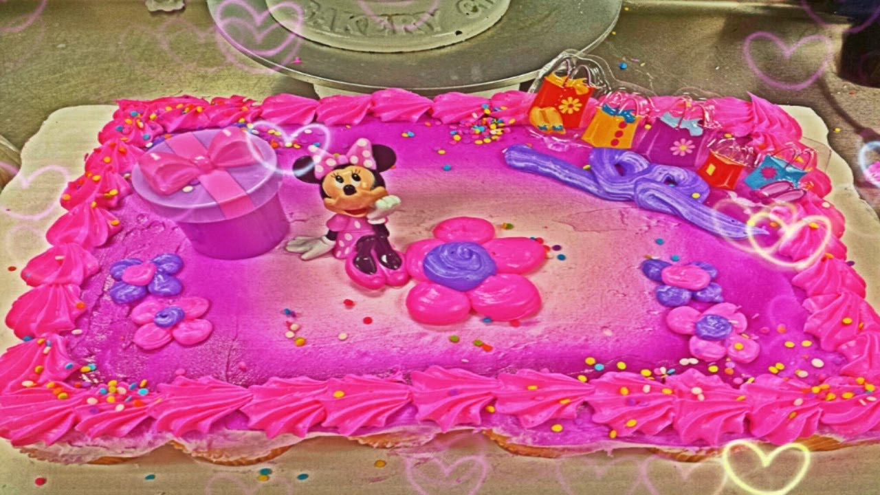 Kroger Minnie Mouse Birthday Cakes