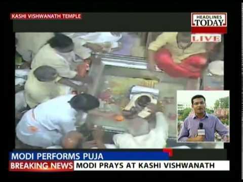 Modi performs puja & attends Ganga Arthi in Dashashvamedh Ghat -I