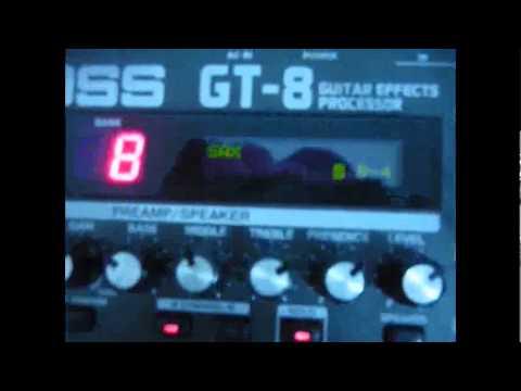 BOSS GT8 SOM DE SAXOFONE E FLAUTA