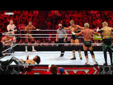 Raw - Eight-Man Elimination Tag Team Match - Part 1
