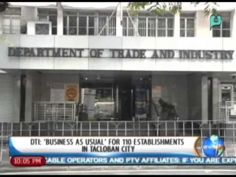 [NewsLife] DTI: 'Business as usual' for 110 establishments in Tacloban City || Dec. 17, '13