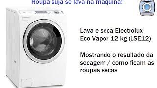 Lava E Seca Electrolux Eco Vapor 12kg (LSE12) Mostrando