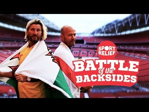 Alan Shearer Vs Robbie Savage | Sport Relief Battle of the Backsides