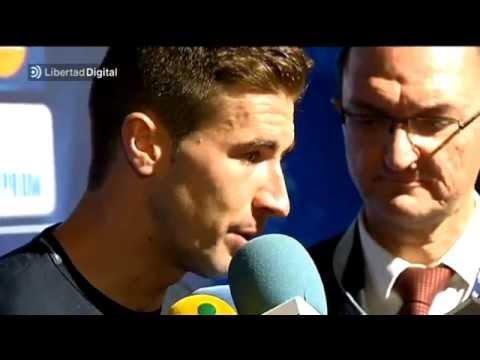 Los jugadores del Atlético, eufóricos tras el pase a semifinales
