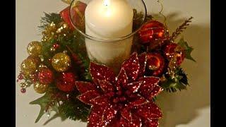 Sencillo centro de mesa navideño