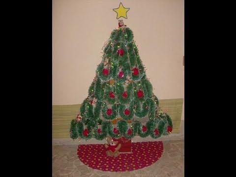 Como hacer arbol de navidad con cajas de carton reciclando - Como hacer un arbol de navidad de carton ...