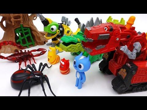 Go Go Dinotrux Protect Dinosaur Park from Monster Bugs