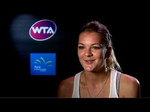 Agnieszka Radwanska 2014 Apia International Sydney Preview Interview
