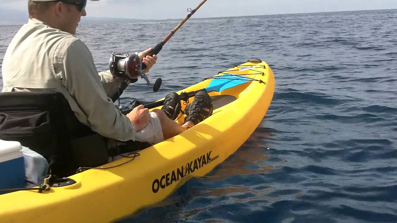 Kayak fishing hawaii nick 39 s uku pt 1 youtube for Kayak fishing hawaii