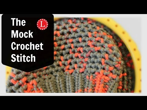 Mock Crochet Stitch on the Loom
