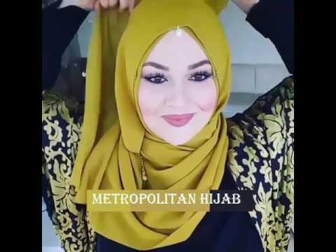 Cara Memakai Jilbab Untuk Wajah Bulat  #  15