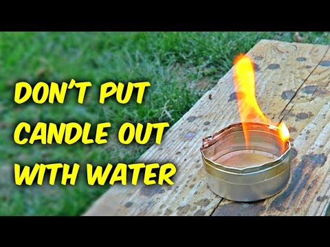 Don't Mix Hot Wax and Water!
