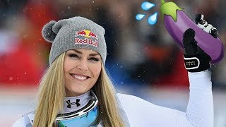 Lindsey Vonn Searches for Some Valentine's D at the 2018 Winter Olympics