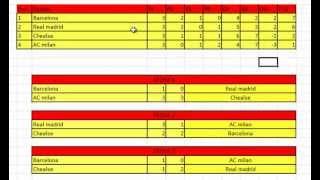 Excel Formato Fase De Grupos Futbol