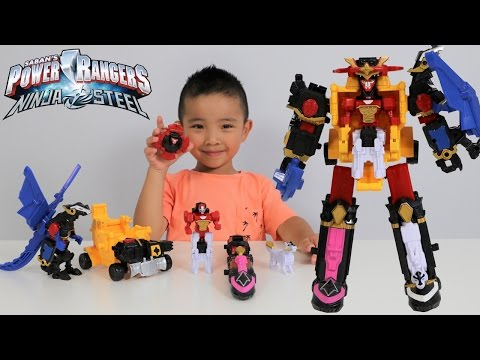 Power Rangers DX Ninja Steel Megazord Toys Unboxing Fun With Ckn Toys