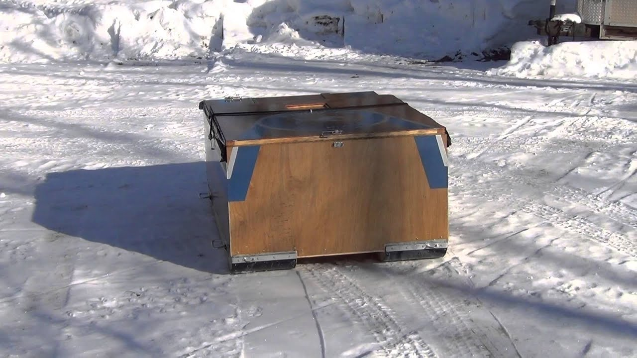 Homemade ice fishing house - photo#20