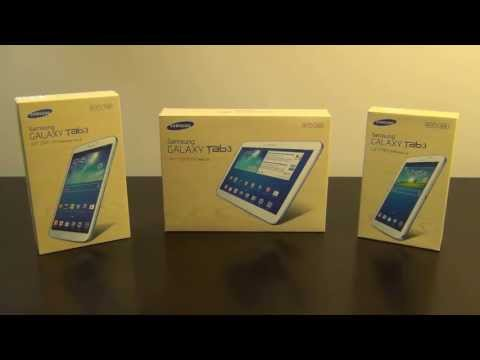 Samsung Galaxy Tab 3 Tablets: 7.0, 8.0 and 10.1 Spec Comparison