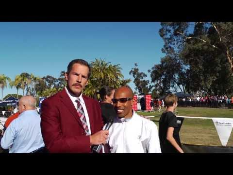 Ron Burgundy Interview with Meb Keflezighi at the Footlocker High School Cross Country Championships