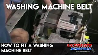 How to fit a washing machine belt