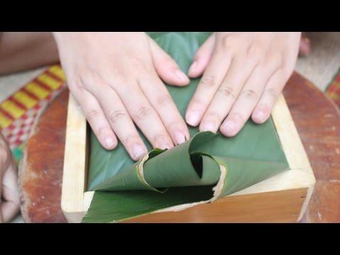 Hướng dẫn chi tiết cách gói bánh chưng bằng khuôn