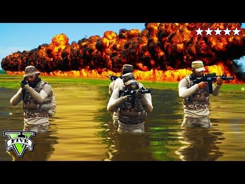 GTA 5 Epic 5 STAR SURVIVAL  | 5 Star POLICE Getaway | GTA 5 Online Police Massacre  Destruction