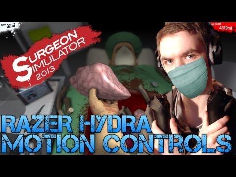 Surgeon Simulator 2013 - RAZER HYDRA MOTION CONTROLS - Gameplay/Commentary