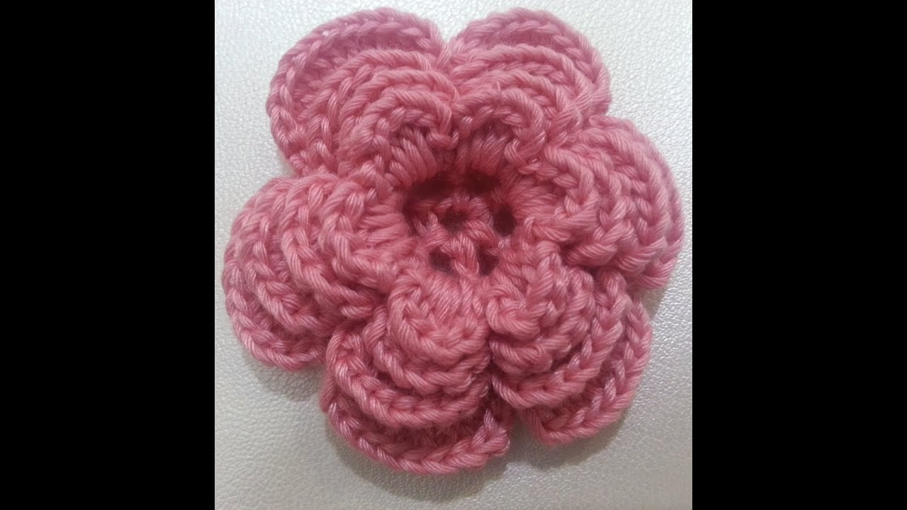Crochet Tutorials On Youtube : Crochet flower tutorial #3 - YouTube