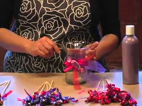 Arreglo de dulces y arena para XV años DIY Arrangement  XV