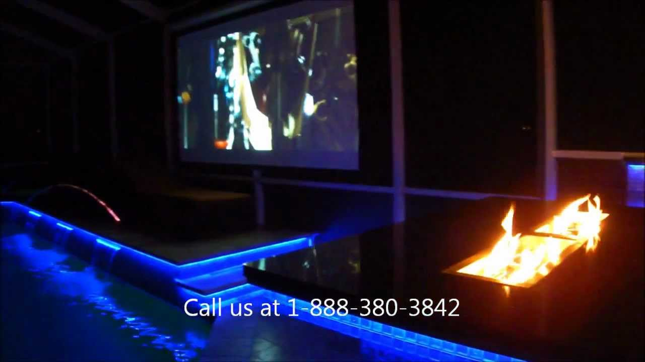 LED Outdoor Kitchen And Pool Lighting Tampa Florida - YouTube