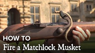 How To Fire A Matchlock Musket English Heritage Event