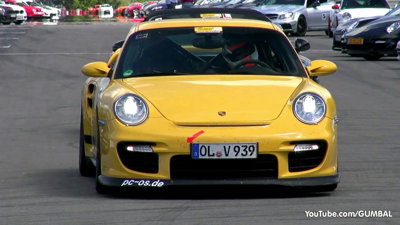 yellow porsche 997 gt2 lovely sounds youtube. Black Bedroom Furniture Sets. Home Design Ideas