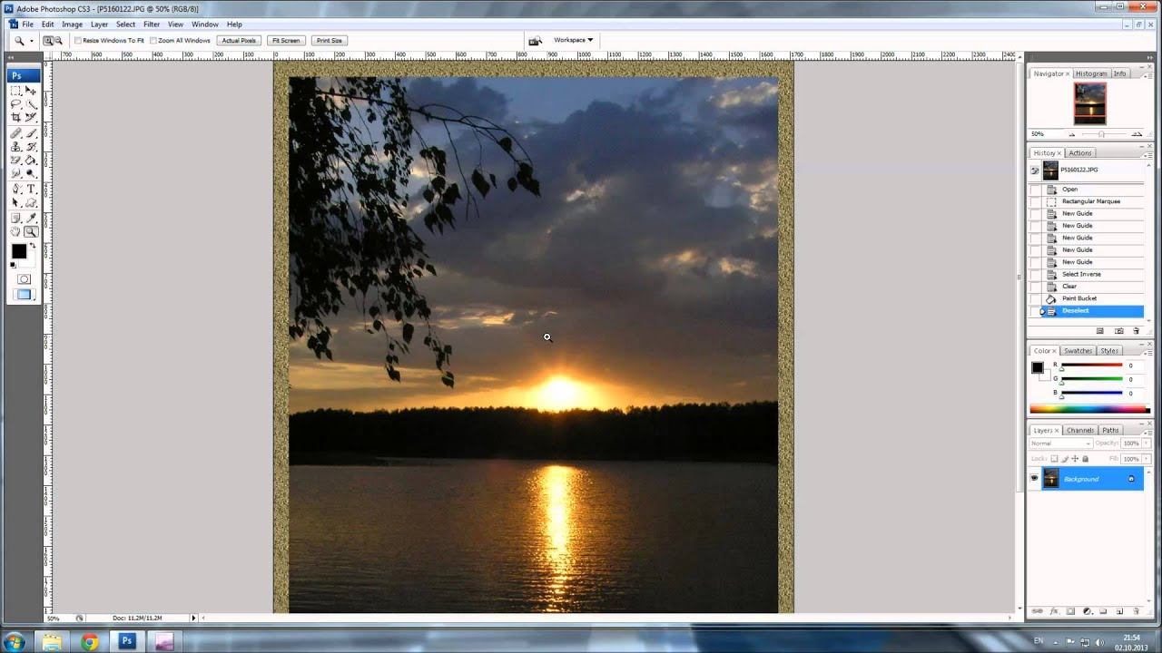 Фотошоп как сделать прозрачную рамку в фотошопе
